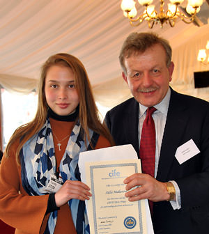 Ashbourne-student-Lidia-Makarova-with-Lord-Lexden