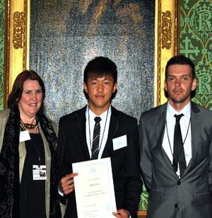 Brooke House's Mark Tan with staff at CIFE prize ceremony