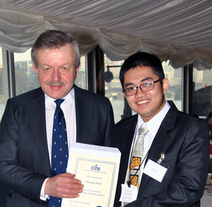 Brooke House student Vin San Dinh with Lord Lexden