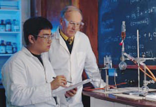 Chemistry class at Brooke House
