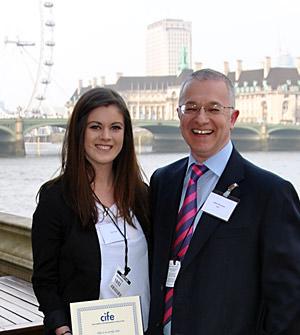CCSS' Ellie Peters with Stuart Nicholson