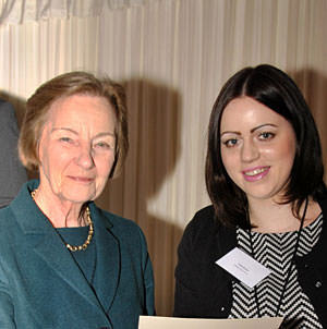 CCSS Emily Brown receives CIFE prize from Baroness Perry