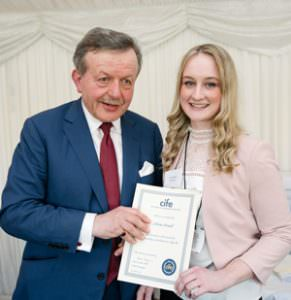 Olivia Powell receives a CIFE College Award