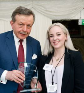 Sophie Geikie-Cobb receives the CIFE award for Languages