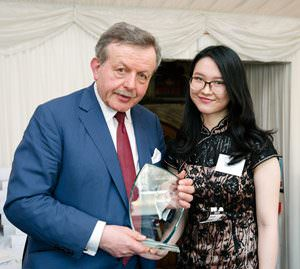 Xiaoyu Weng receives CIFE Award from Lord Lexden