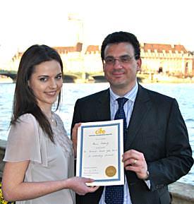 CIFE 2011 Gold Award Xanthia Dethiefs