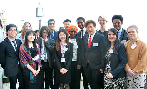Some of the 2014 CIFE Award winners on the terrace of the House of Lords