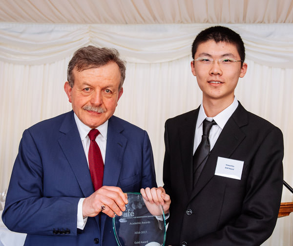 Lord Lexden with CIFE Gold Award winner Howard Xu