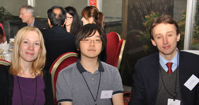 CIFE prizewinner Yutaro Saito with Carfax Principal Rupert Alesbury