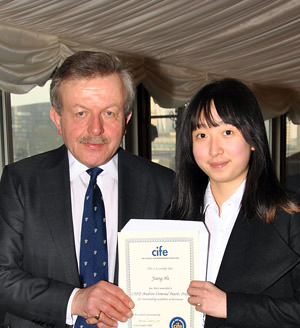 CTC student Jiang He with Lord Lexden
