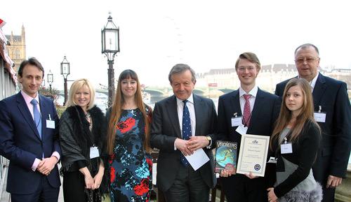 Carfax award winner at House of Lords