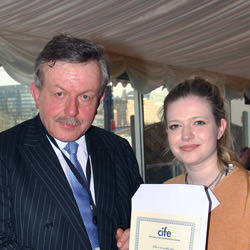 Collingham prize winner Isabella Speaight
