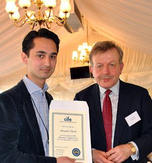 Collingham-student-Alexander-Thanki-receives-CIFE-Prize