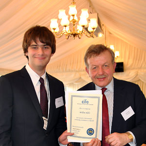 Collingham-student-Willem-Nelis-receives-CIFE-Prize