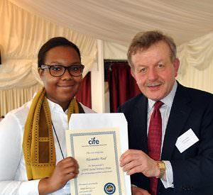 DLD-student-Alexandra-Reid-receives-CIFE-Prize