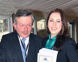 DLD student Sintija Eisaka with Lord Lexden