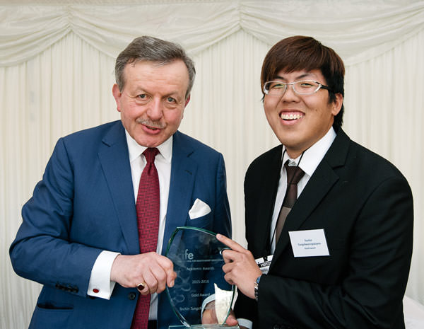Lord Lexden presents the CIFE Gold Award