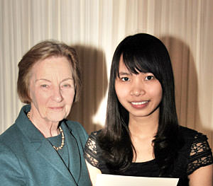 MPW Birmingham's Sophia Nguyen receives CIFE prize from Baroness Perry