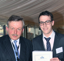 OTC student Hugh Squire with Lord Lexden