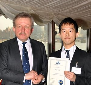 OTC student Kenji Baba with Lord Lexden