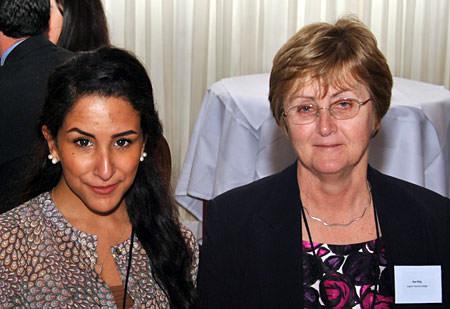 OTC's Maha Aljefri with teacher Sue King at CIFE prize ceremony