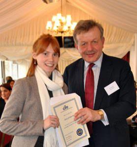 OTC-student-Mary-Gompertz-receigves-CIFE-Prize