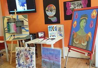 Student art-work at LSI